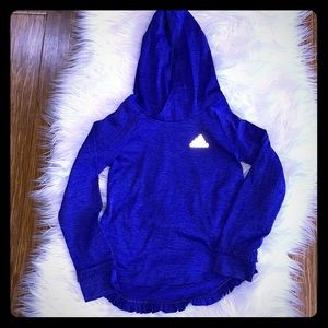 Purple with Ruffles Adidas Hooded Top